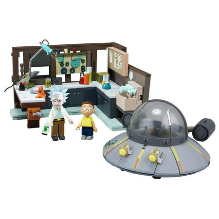 McFarlane Toys Rick & Morty Construction Set - Spaceship and Garage (Construction Set Toys)