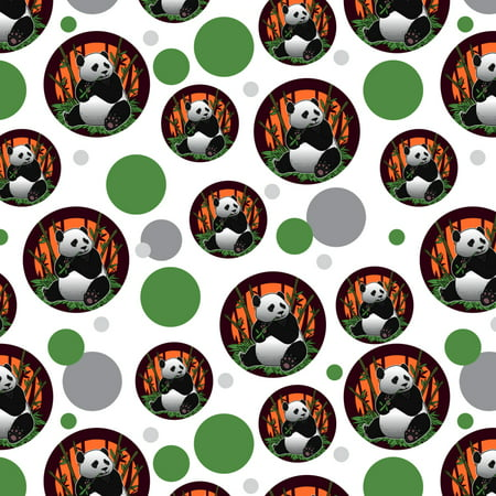 Giant Panda Bear Eating Bamboo Premium Gift Wrap Wrapping Paper Roll