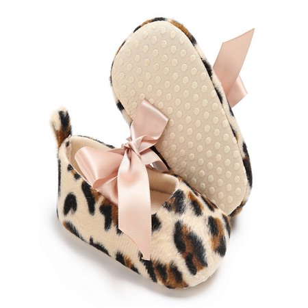 Baby Toddler Girls Cute Leopard Print Crib Shoes Soft Prewalker Soft Sole Shoes - Cute Converse For Girls