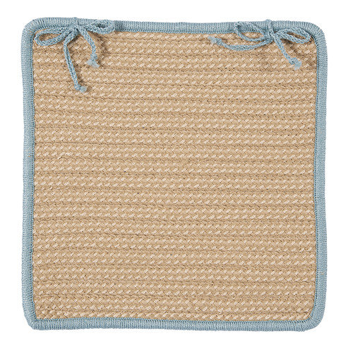 Boat House Light Blue Chair Pad (single) by Colonial Mills