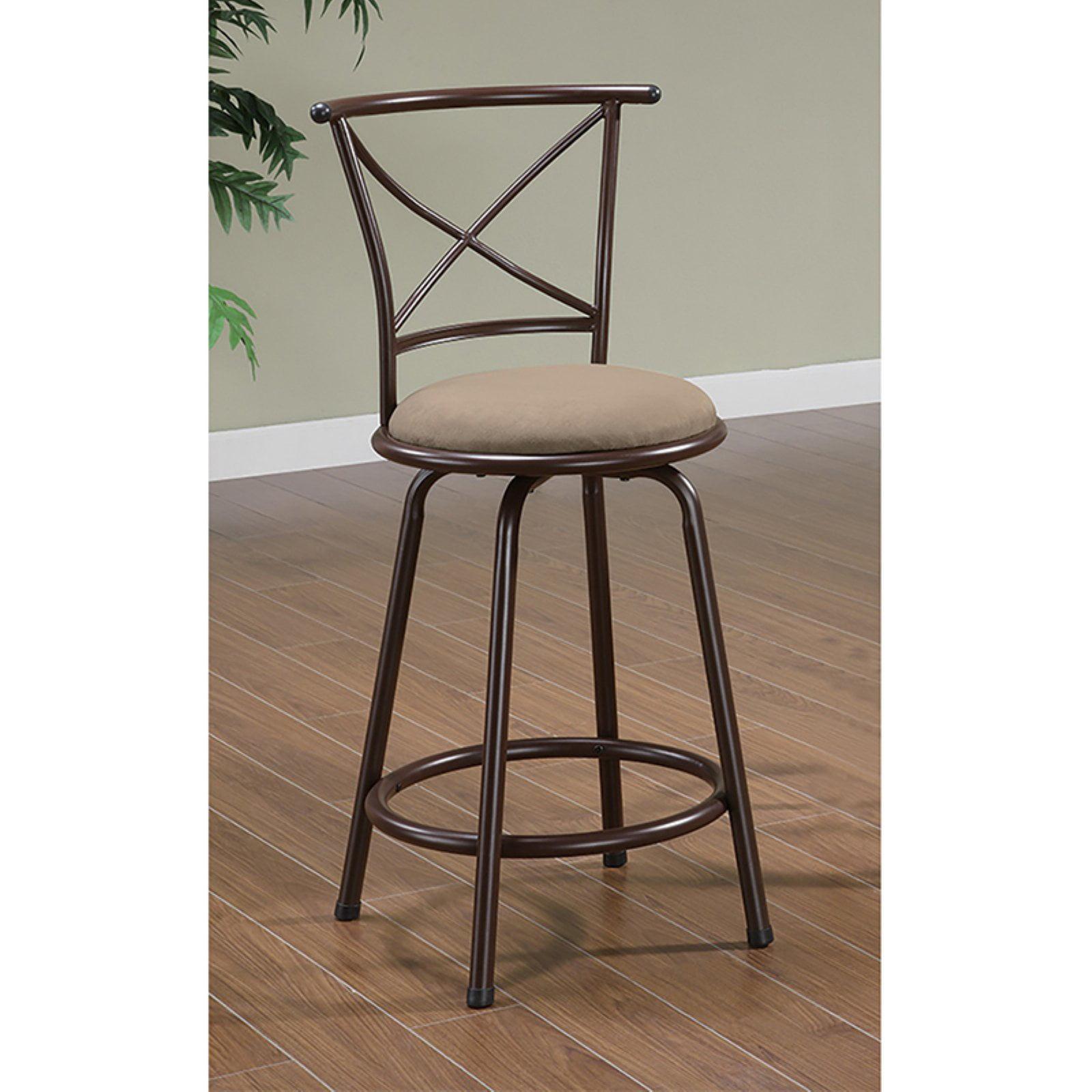 Coaster Furniture 38 in. Cross Back Swivel Bar Stool - Set of 2