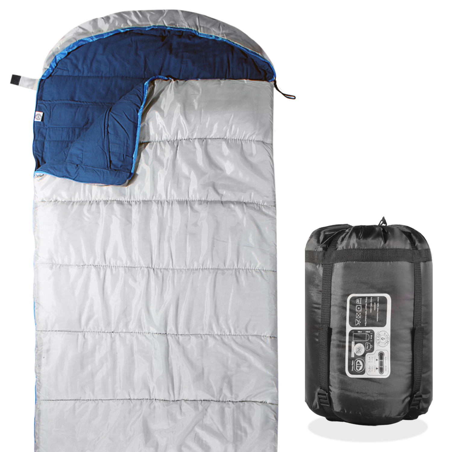 Khomo Gear 3 Season Sleeping Bag For Hiking Camping & Outdoor Activities by KHOMO GEAR