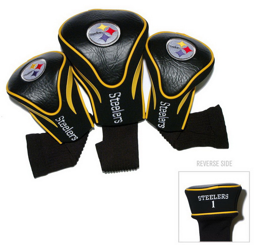 Team Golf NFL Pittsburgh Steelers 3 Pack Contour Head Covers