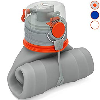 Lightweight EXIT Collapsible Water Bottle 26 oz Foldable Water Bottle for Travel Triple Leak Proof BPA Free Premium Medical Grade Silicone