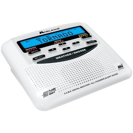 Midland WR120 NOAA Weather Alert Radio - White