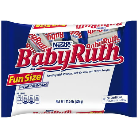 Baby Ruth Chocolate (Nestle Baby Ruth Candy Bars Fun Size, 11.5 Oz.)