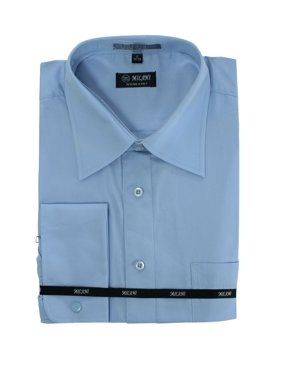 3630089bf69c Product Image Simplicity MILANI Men's Long Sleeve Slim Fit Solid Dress Shirt  - French Cuff