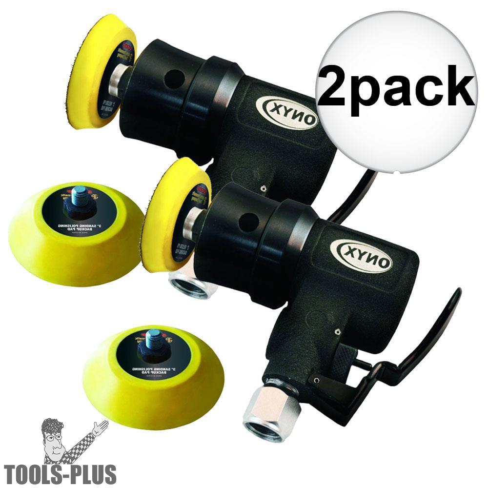"""Astro Pneumatic 321 ONYX Micro 2"""" Random Orbit Sander Hook&Loop-3mm Orb 2-Pack by Astro Pneumatic Air Tools"""