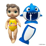 Baby Alive, Baby Shark Brown Hair Doll, with Tail and Hood, Waterplay Toy