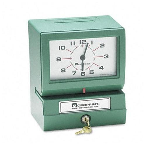 ACRO PRINT TIME RECORDER 012070413 Model 150 Analog Automatic Print Time Clock With Month/date/0-23 Hours/minutes
