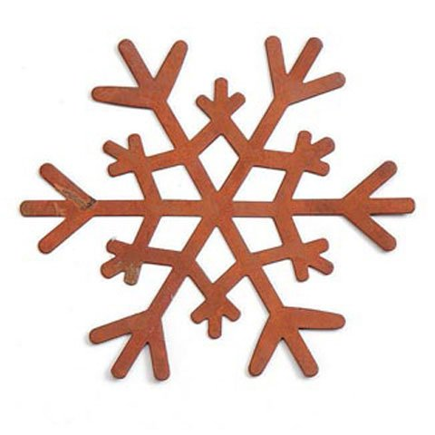Bulk Buy: DIY Crafts Rusted Tin Snowflake 3-3/8 inch 3 pieces (6-Pack) 6554-36, By Darice