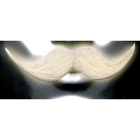 Self Adhesive White Glow-In-The-Dark Costume Mustache - Halloween Costumes With Mustache