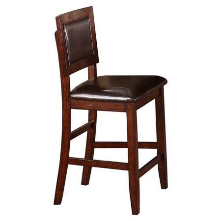Only Seat - Winners Only Fallbrook Counter Height Cushioned Back and Seat Bar Stool - Set of 2