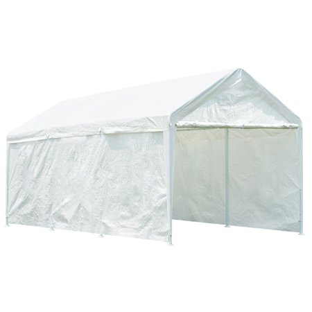Quictent 20' x 10' Heavy Duty Carport Gazebo Canopy Party Tent Garage Car Shelter (10 X 20 Car Canopy)