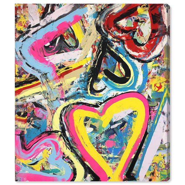 Runway Avenue Abstract Wall Art Canvas Prints Tiago Magro Balloons Paint Yellow Pink Walmart Com Walmart Com