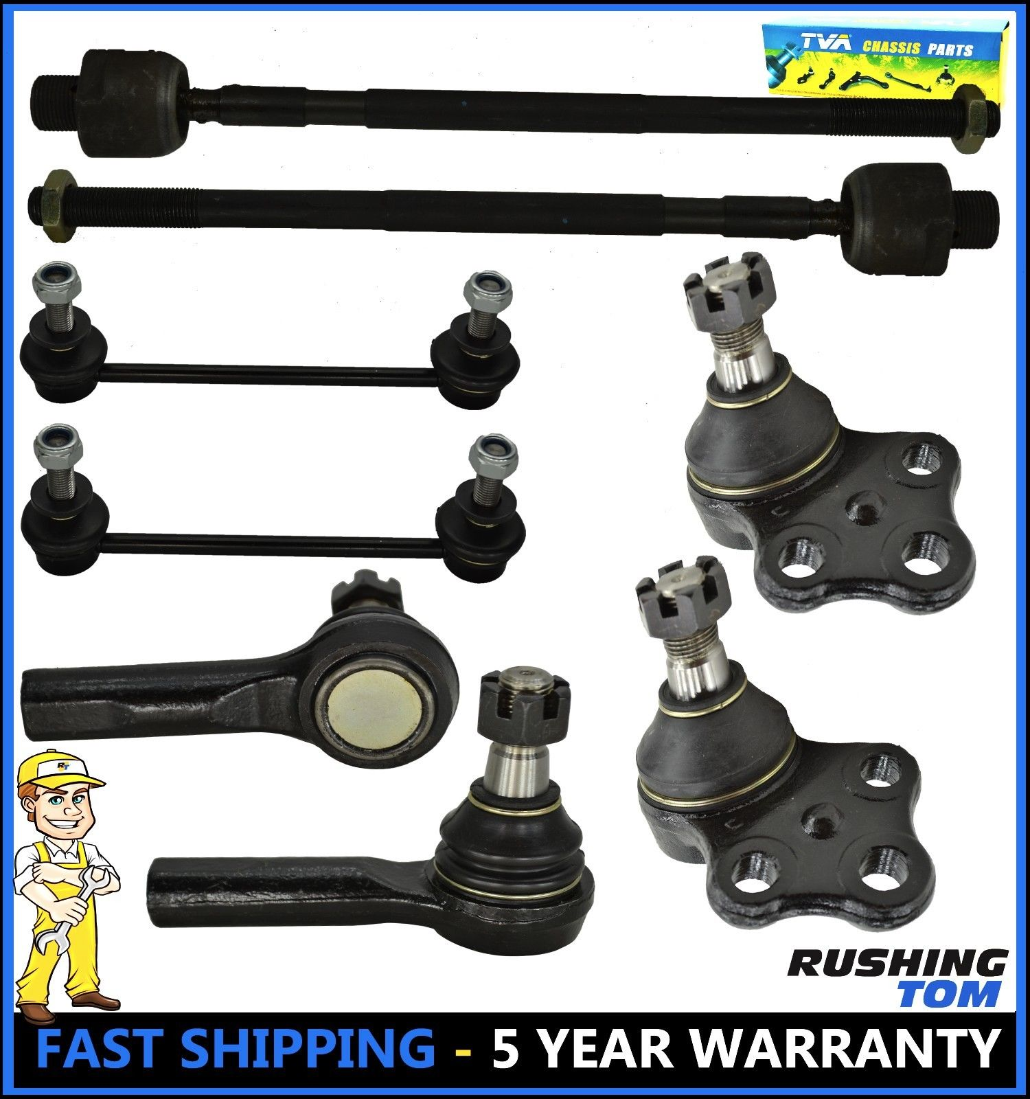 8 Pc Kit Tie Rod End Lower Ball Joint Sway Bar Link For Nissan Pathfinder Qx4