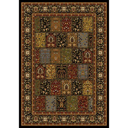 Home Dynamix Royalty Collection 41200B-450 Black Area Rug