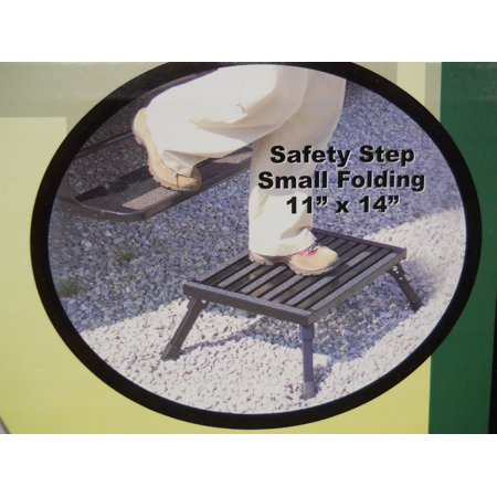 Aluminum Camber (RV Camper Motor Home Trailer Black Aluminum Folding Safety Step Stool Platform)
