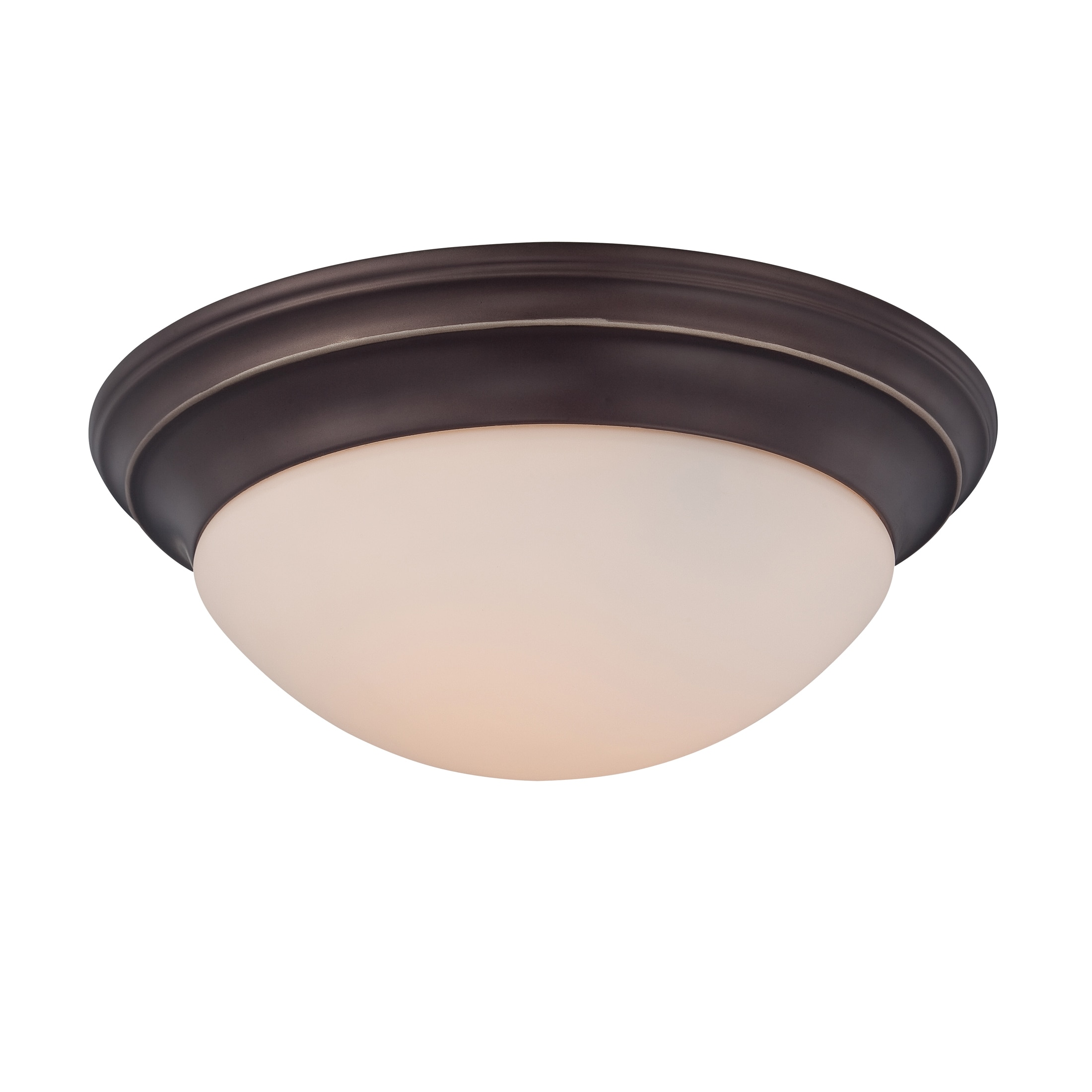 Quoizel 3-light Palladian Bronze Flush Mount by Overstock