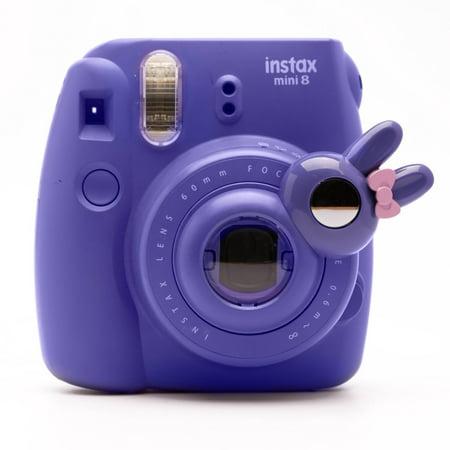 Cute Bunny Selfie And Close Up Lens Shot Mirror For Fujifilm Instax Mini 8 Mini 9 Polaroid PIC-300 Hellokitty Instant Camera (Purple Bunny) Purple (Purple Polaroid)