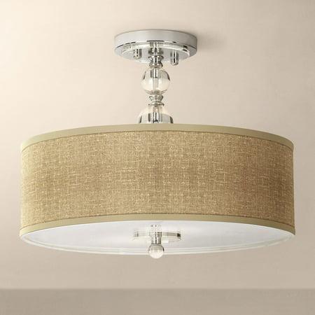 - Giclee Gallery Modern Ceiling Light Semi Flush Mount Fixture Chrome Crystal 16