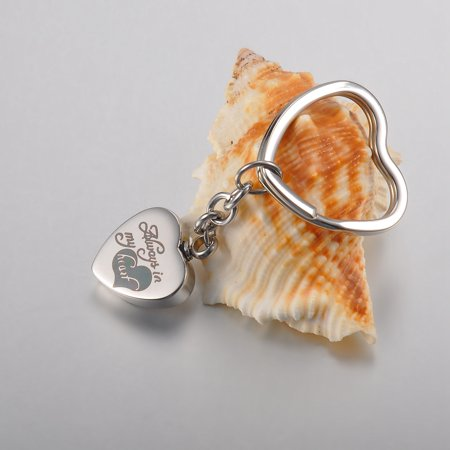 Heart Key Holder (Always in My Heart Cremation Jewelry Keepsake Ashes Urn Holder Heart Key Chain )