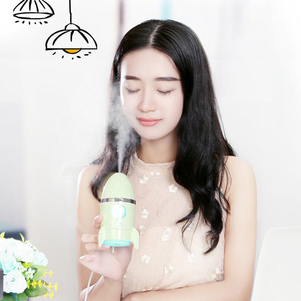 Rocket Shaped Mini Air Humidifier USB Power Supply Car Office Home Purifier