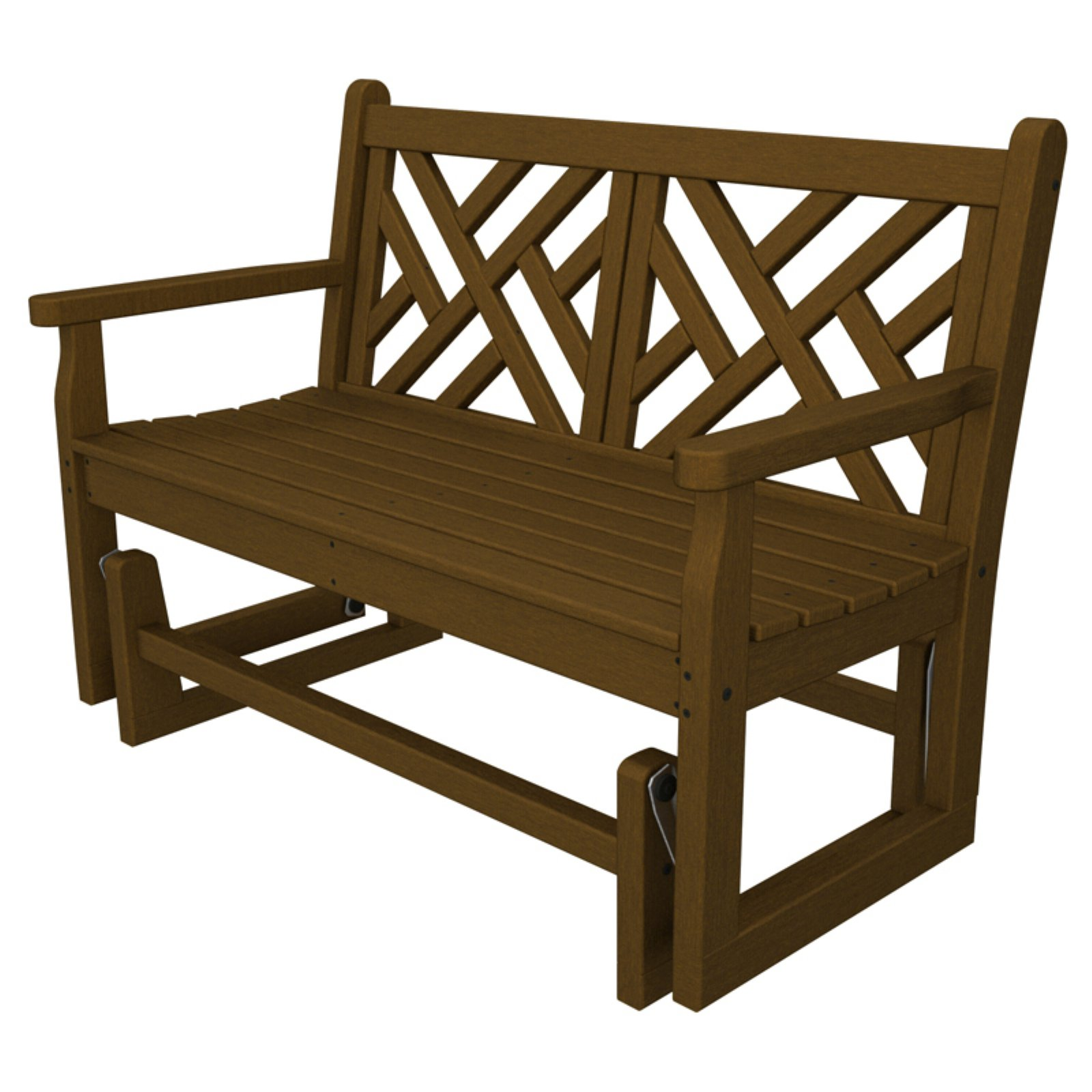 POLYWOOD; Chippendale 4 ft. Recycled Plastic Outdoor Glid...