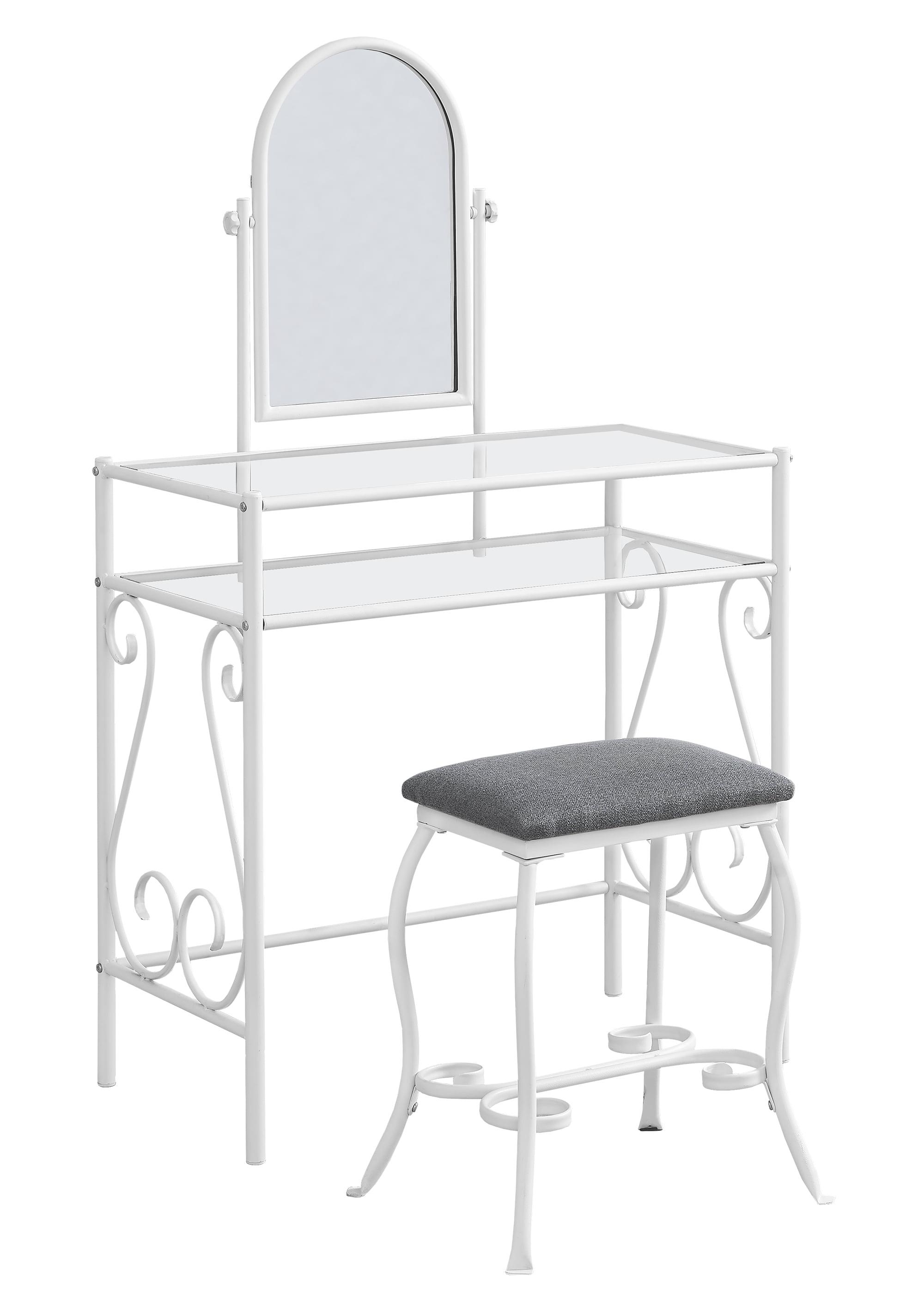 Monarch Specialties 3394 Vanity Set In White Metal W