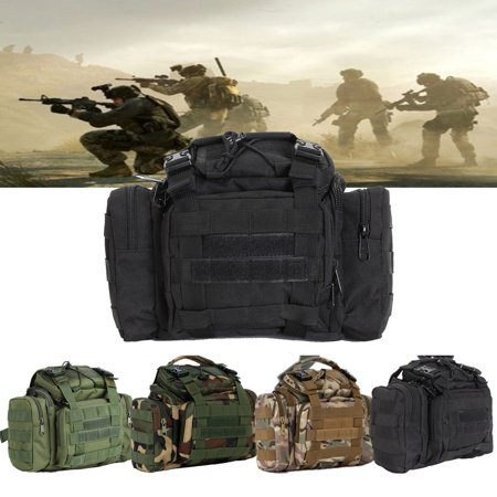 Fishing Tackle Bag Large Storage Waist Shoulder Bags Waterproof Tactical Waist Pack, Haversack Carry Bag Oxford