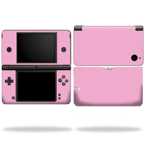 Mightyskins Protective Vinyl Skin Decal Cover for Nintendo DSi XL wrap sticker skins Solid Pink