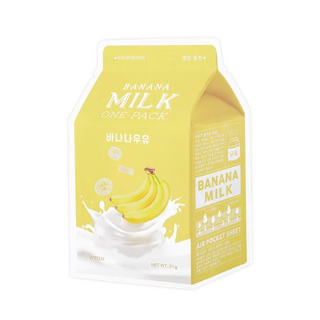 A'PIEU Banana Milk One-Pack Face Mask (Riddell Face Mask)