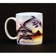 Euland China MA0-006D Set Of Two 12-Ounce Mugs - Jumping Dolphins