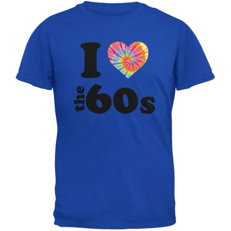 I Heart The 60s Royal Adult T-Shirt](60s Mens Clothes)