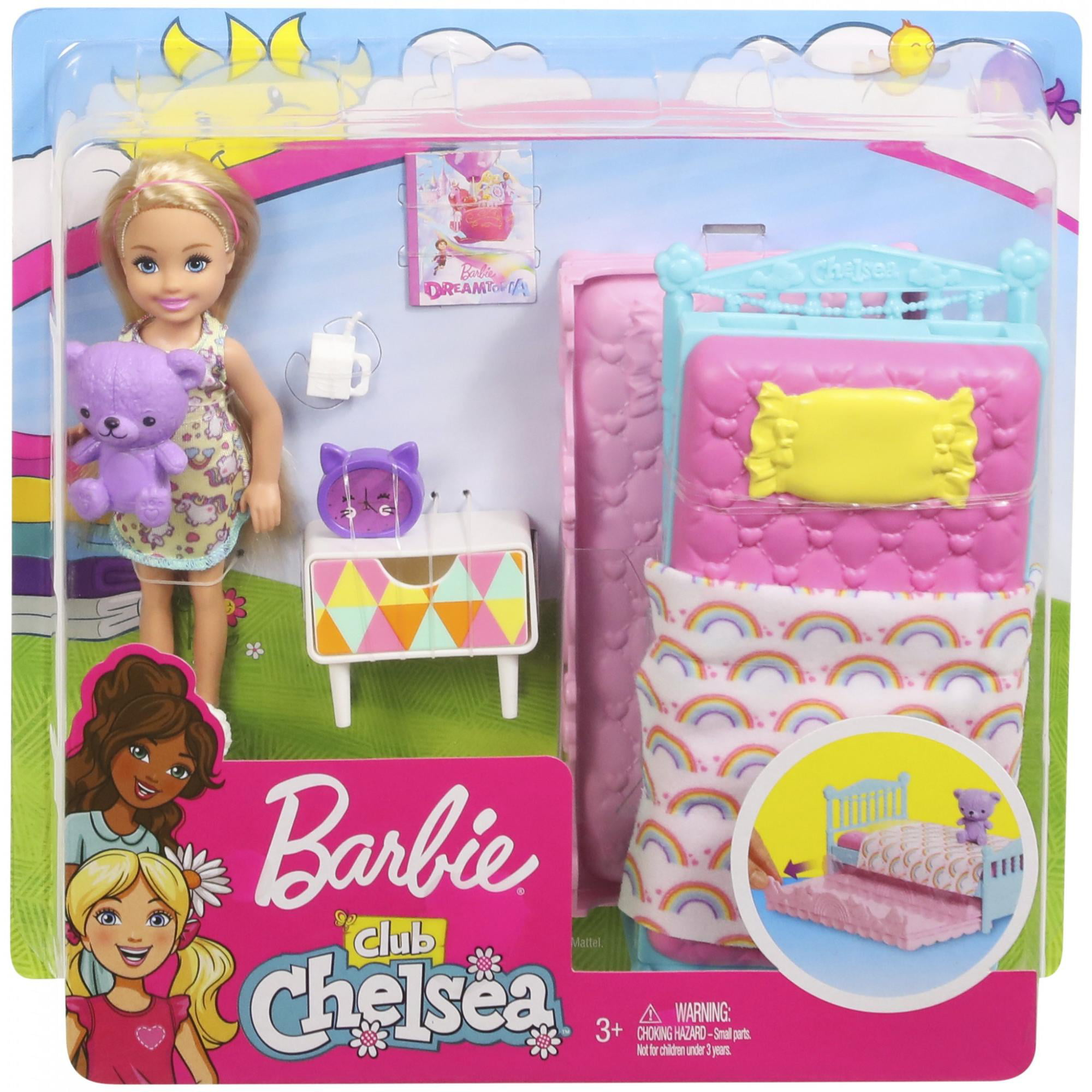 Barbie Club Chelsea Bedtime Doll And Bedroom Playset Walmart Com Walmart Com