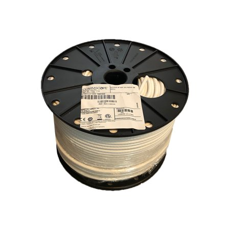 500' REEL SPOOL COMMSCOPE F677TSVV WHITE RG6 SINGLE CABLE COAX COAXIAL SATELLITE (500 Foot Rg6)