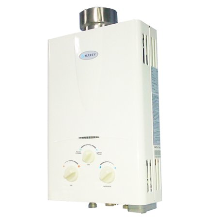 Hot Water Liquid Propane - Marey 2.0 GPM Liquid Propane Gas Tankless Hot Water Heater 1-2 Bath House GA5LP