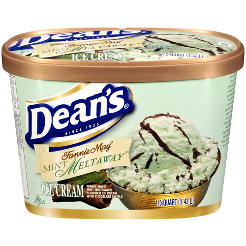 Dean's: Fannie May Mint Meltaway Ice Cream, 1.5 Qt