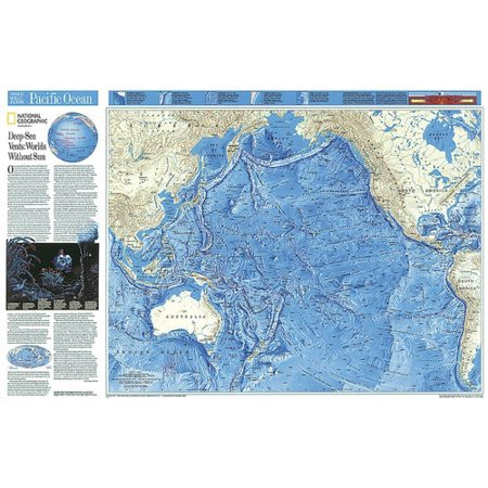 Geographic Map Of World.National Geographic Maps World Pacific Ocean Floor Map Walmart Com