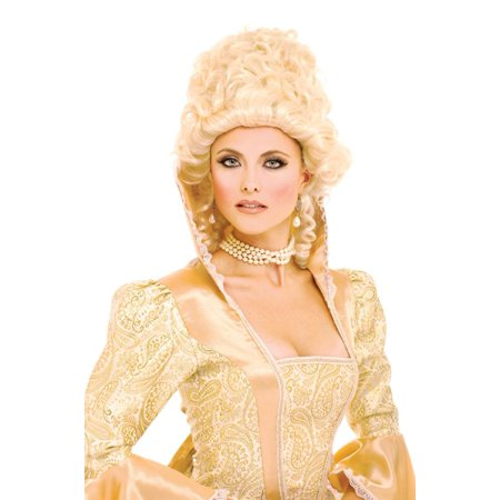 50s Style Wigs (1600's Colonial Blonde Style Female Adult Costume Wig by French Kiss One)