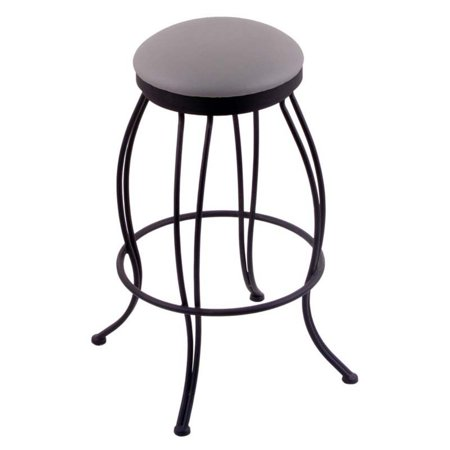 Holland Bar Stool Georgian 25 in. Swivel Counter Stool with Fabric Seat - Black Wrinkle