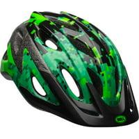 Bell Sports Peak Green Pixels Boys Youth Helmet, Black