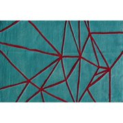 "The Rug Market Facet Aqua 2.8"" x 4.8"" Area Rug"