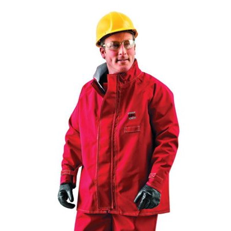X-Large Red 30'' Sawyer-Tower CPC Polyester Trilaminate Gore Fabric Splash Protection