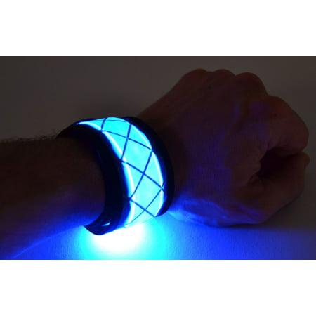 GlowCity LED Light Up Slap Bracelet, Blue](Light Up Bracelets)