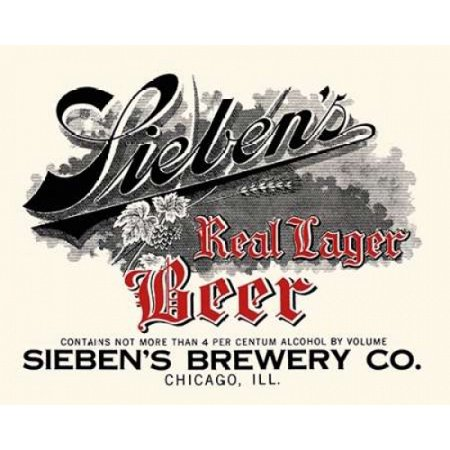 Siebens Real Lager Beer Poster Print by Vintage Booze Labels