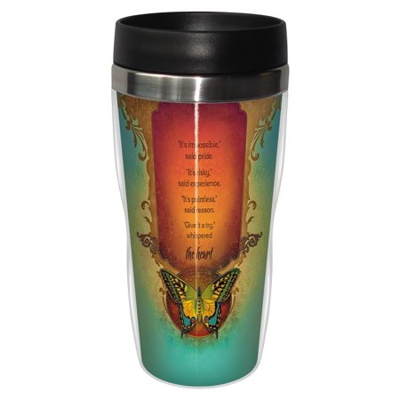 Tree Free Greetings 78169 Angi And Silas Not Impossible Sip N Go Stainless Lined Travel Mug  16 Ounce