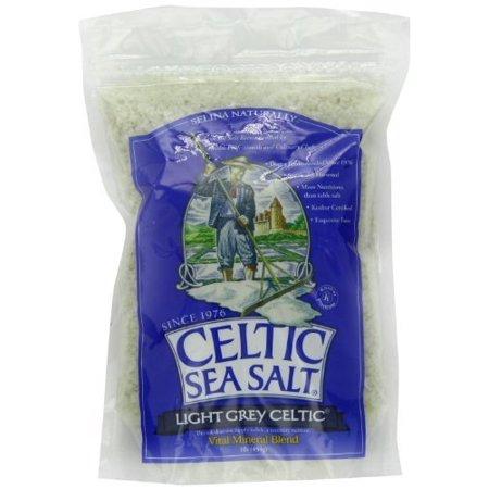 Light Grey Celtic coarse sea salt, 1 lb. bag - Pack of 2