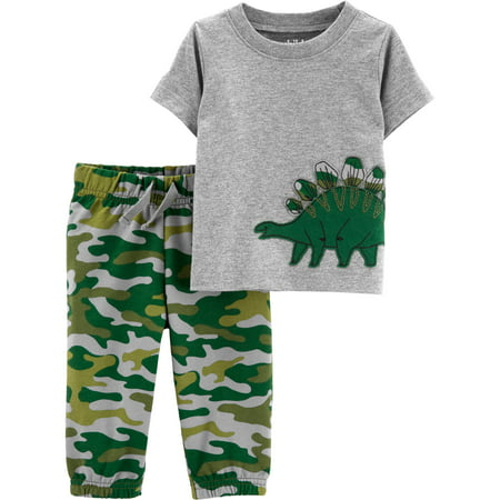 Child of Mine Short Sleeve T-Shirt and Pants, 2 pc set (Toddler Boys) - High Tops For Toddlers