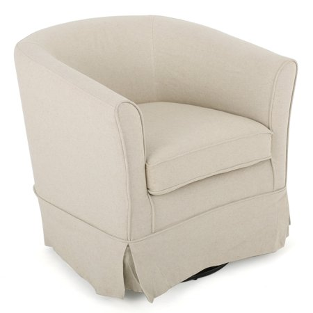 Samantha Fabric Swivel Chair with Loose Cover ()